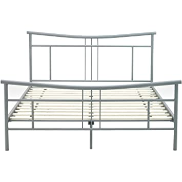 hanover hbedchel fl chelsea metal platform bed frame full metallic