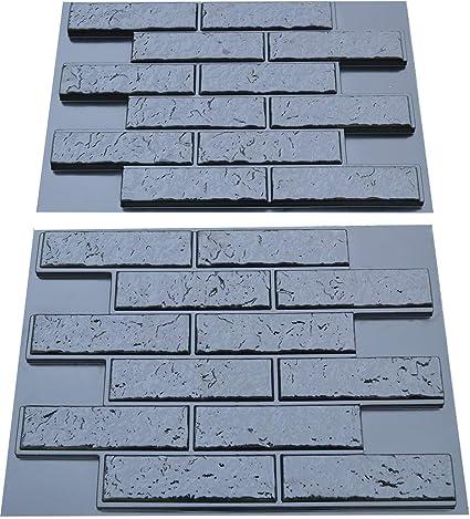 Plastic Molds for Concrete Plaster Wall Stone Slate Tiles for Garden Decoration