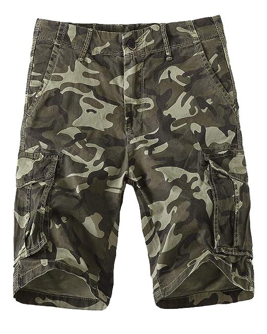 1db6de0905 Meerway Hombre Bermudas Pantalones Cortos de Cargo del Estilo Bolsillo  múltiple Vintage Pantalones Cortos de Trabajo Verano  Amazon.es  Ropa y  accesorios