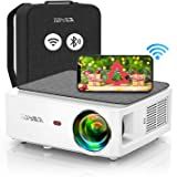YABER V6 WiFi Bluetooth Projector 8500L Upgrade Full HD Native 1920×1080P Projector, 4P/4D Keystone Support 4k&Zoom, Portable