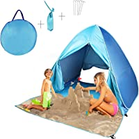 FBSPORT Beach Tent, UV Protection Automatic Pop Up Sun Shelter, Portable Outdoor Lightweight Beach Sun Shade Canopy…
