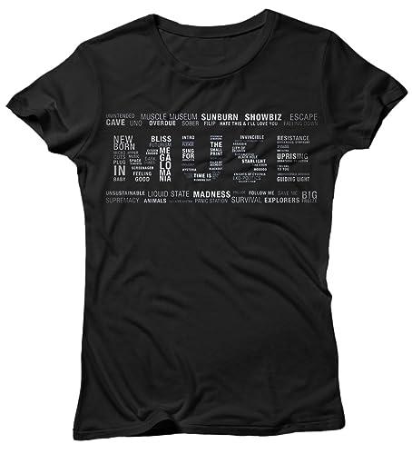 Camiseta Mujer Muse Multi Text - Camiseta 100% algodòn LaMAGLIERIA