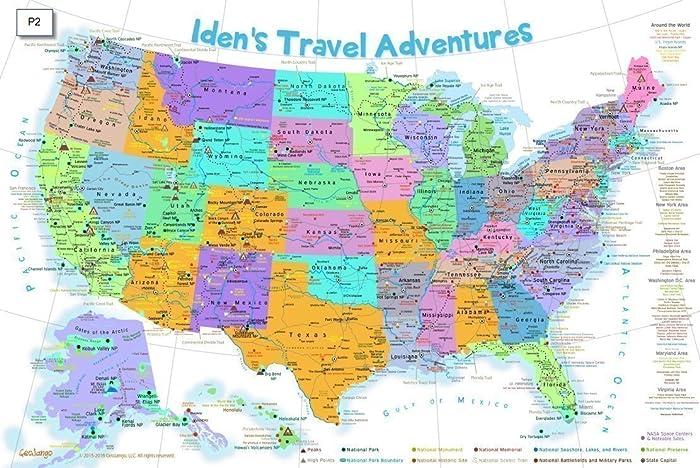 Amazon.com: USA Map for Kids - Explore America Map - Push Pin Travel ...