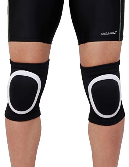 c082ba6370 KD Willmax Stretchy Cotton Knee Pads Sports Padded Knee Sleeves Dancing Knee  Protective Brace Support Strap Wrap Band for Basketball, Volleyball,  Football, ...