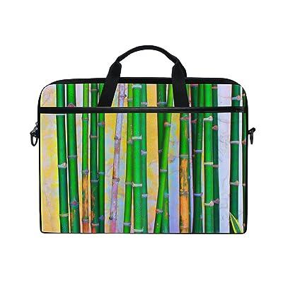 AHOMY Watercolor Bamboo 15 Inch Laptop Shoulder Sleeve Messenger Bag Case