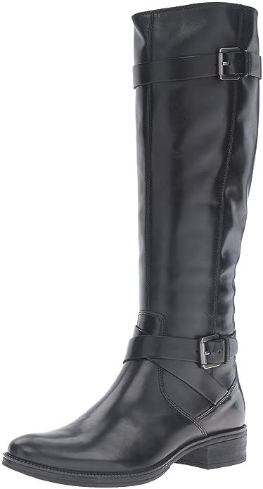 Geox D-Mendi Stivali D, Botas de Montar para Mujer, Negro (Black