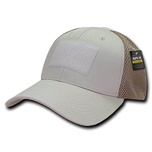 BHFC Stone Tan Tactical Operator Contractor Patch Low Crown Mesh Flex Baseball  Fitted Cap Hat 3f245a73dea