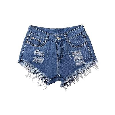 Moda para Mujer Cortos Pantalones Vaqueros Pantalones Bordados Estiramiento Moda Moda Completi Pantalones Cortos De Mezclilla Niñas Pantalones Vaqueros Elegantes Pantalones De Verano Pantalones: Ropa y accesorios