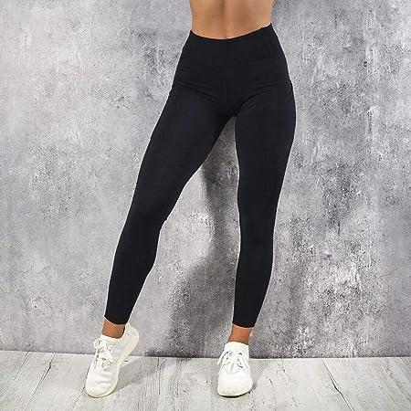 Voiks Pantalones Deportivos Leggings Mujer Yoga de Alta Cintura Elásticos y Transpirables para Running Fitness Yoga con Gran Elásticos