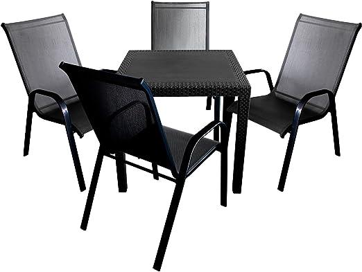 Manche élégant salon de jardin comprenant une table en ...