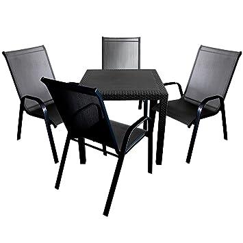 Manche élégant salon de jardin comprenant une table en plastique ...