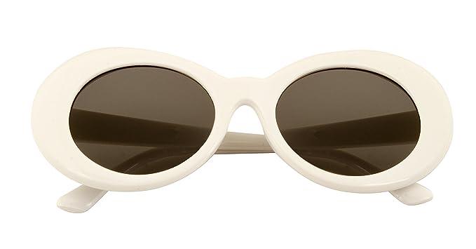 97d0d6cbec4 Amazon.com  CLOUT GOGGLES White Oval Round Sunglasses