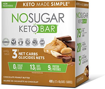low carb diet snack bars made in canada