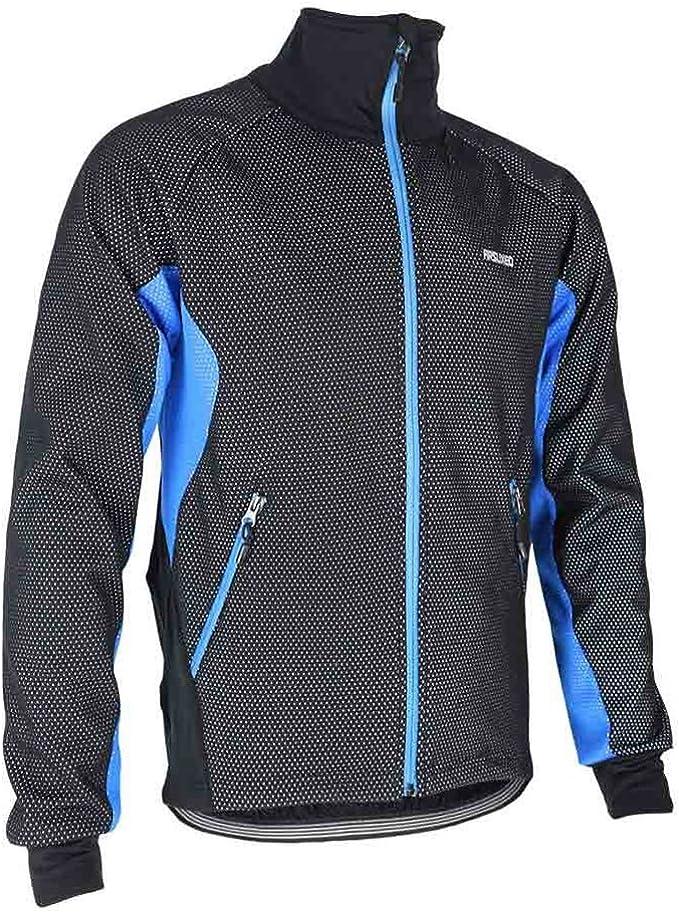ROCKBROS Fahrradjacke Softshell Jacke Sport Warm Winddicht Winter mit Fleece-Innenfutter