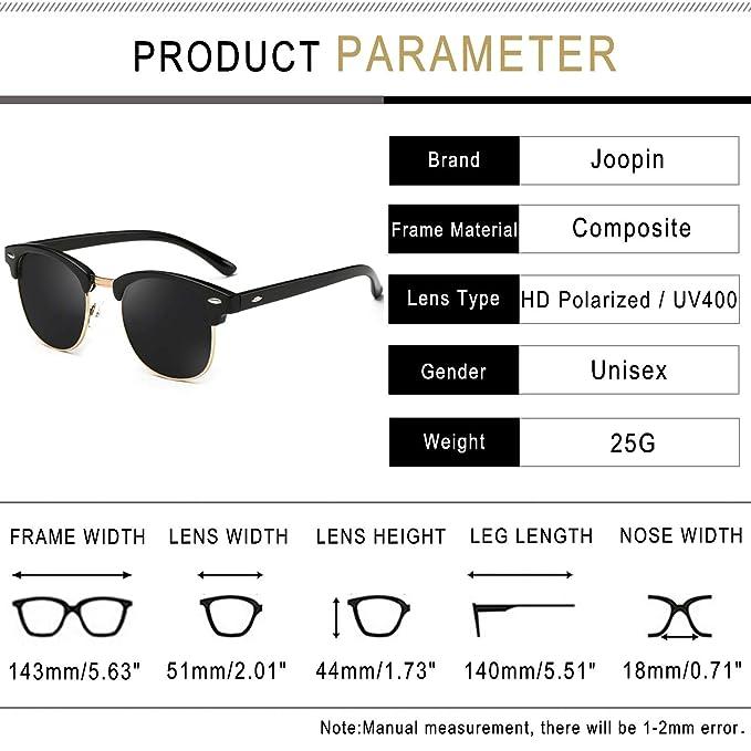 7d75f50ee0 Joopin Semi Rimless Polarized Sunglasses Women Men Brand Vintage Glasses  Plaroid Lens Sun Glasses (Brilliant Black Frame Grey Lens)  Amazon.in   Clothing   ...