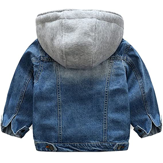 Amazon.com: KISBINI Boys Chaqueta Windproof Hooded Zip Jacket Outdoor Coat for Children: Clothing
