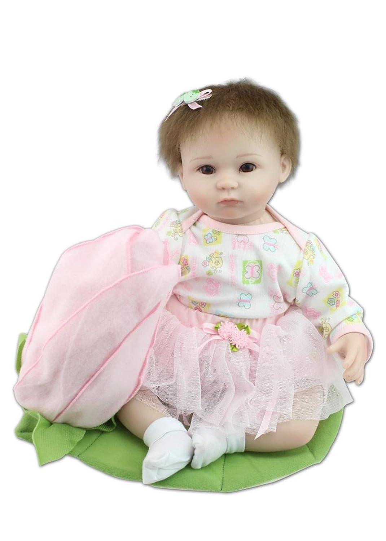 NPK Collection Muñeca bebé recién nacido 18inch 45cm, muñeca realista bebé recién nacido de juguete regalo para niñas princesa juguetes para niños regalo de cumpleaños regalo de navidad