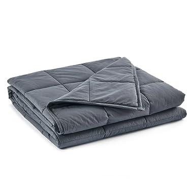 RelaxBlanket Couple Weighted Blanket | 80''x90'',30lb | Premium Cotton | Enjoy Natural Deep Sleep | King Size | Dark Grey