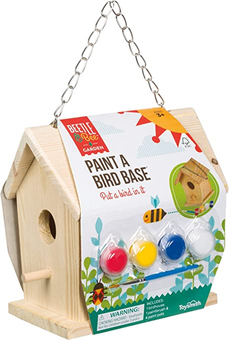 Boys /& Girls Backyard Birdhouse Kit with Fsc Certified Wood DIY Arts /& Crafts House Gardening for Kids /& Teens Toysmith Beetle /& Bee Build A Bird Bungalow