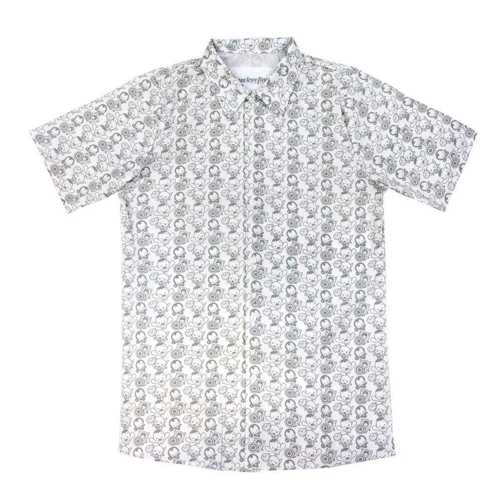 Kawaii Avengers Pattern Men's Button Up Shirt: X-Large X-Large X-Large cda36f