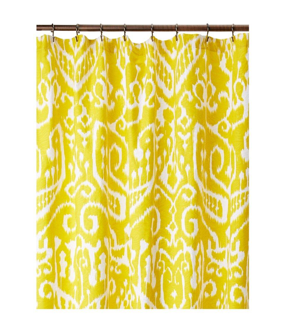 Amazon.com: Trina Turk Unisex Ikat Shower Curtain Yellow: Home U0026 Kitchen