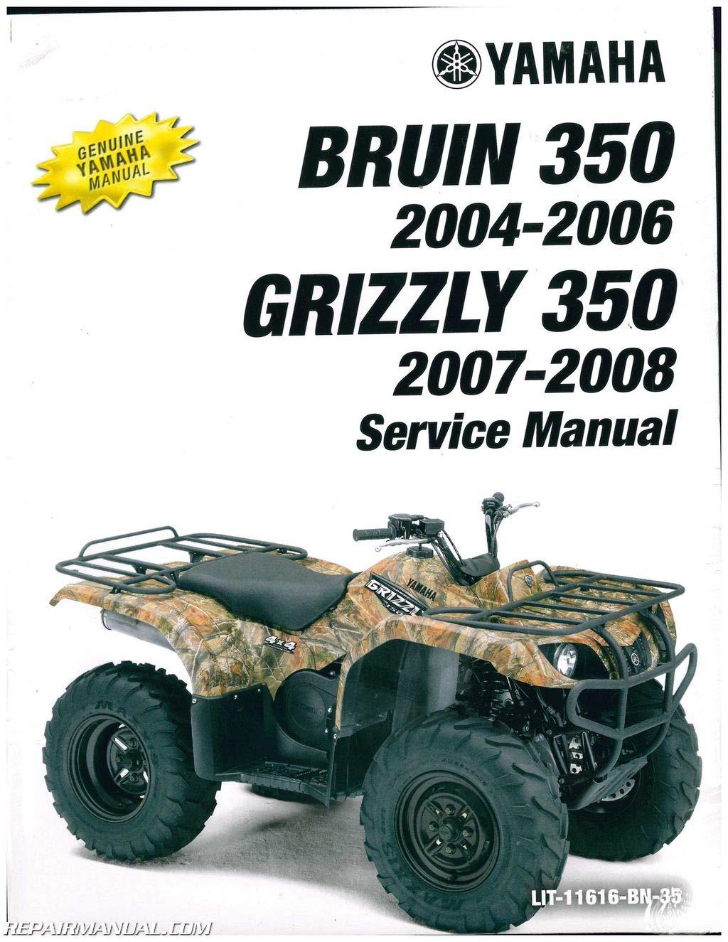Lit 11616 Bn 35 2003 2011 Yamaha Yfm350 Bruin Grizzly Auto 4x4 Yfm400 Kodiak 4wd Service Manual By Author Amazon Com Books