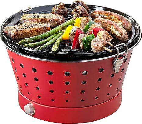 Food&Fun Grillerette Classic - Barbacoa portátil sin Humo, Parrilla 37 cm
