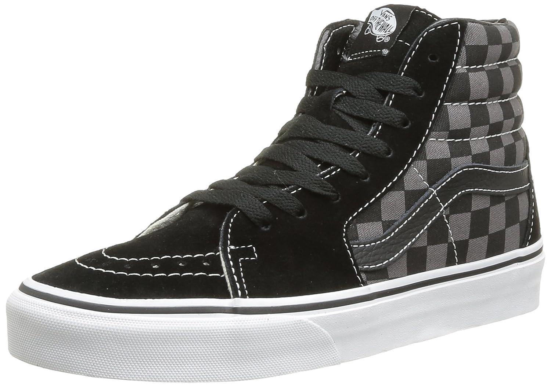 Black Pewter Checkerboard 7 B(M) US Women   5.5 D(M) US Men Vans Sk8hi Unisex Adults HiTop Sneakers