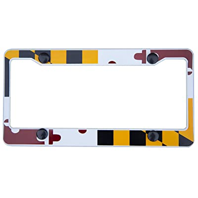 International Tie License Plate Frame, Made with High Grade 304 Stainless Steel (Maryland): Automotive