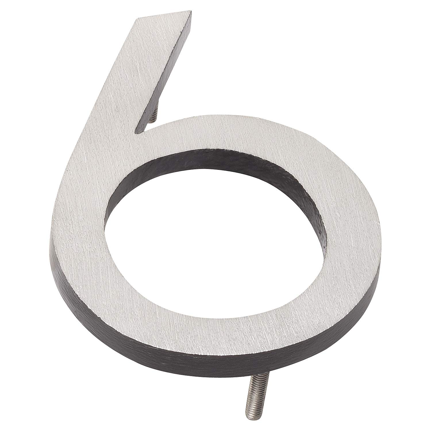 Montague Metal Products MHN-10-6-F-BK2 Floating House Number, 10 inches x 7.25 inches x 0.375 inches Black Two Tone