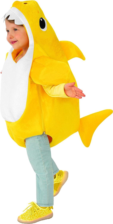 Amazon Com Rubie S Disfraz De Tiburón Para Niño Pequeño Con Chip De Sonido Clothing