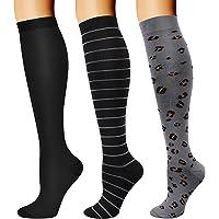 DRESHOW Calcetines de Compresión para Hombres y Mujeres 3/7 Pares 15-20 mmHg es el Mejor para Running, Correr…