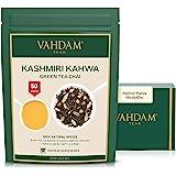 Kashmiri Kahwa Tea - India's Original Saffron Tea Chai (50 Cups), Premium Green Tea blended with Kashmiri Saffron, Cardamom &