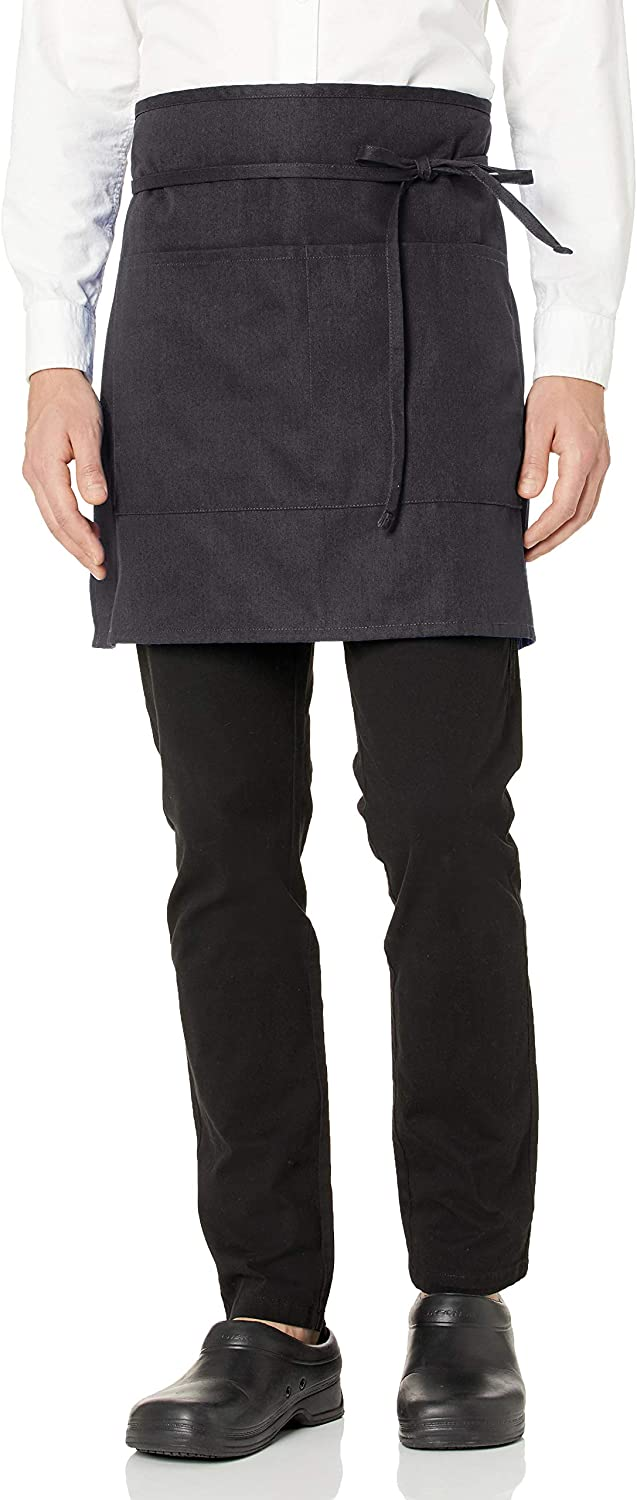 Uncommon Threads Unisex Half Waist Apron with Two Pockets