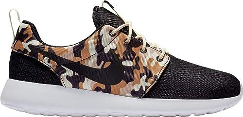 426852923106 Nike Men s Roshe One SE Camo Shoes (Black Tan