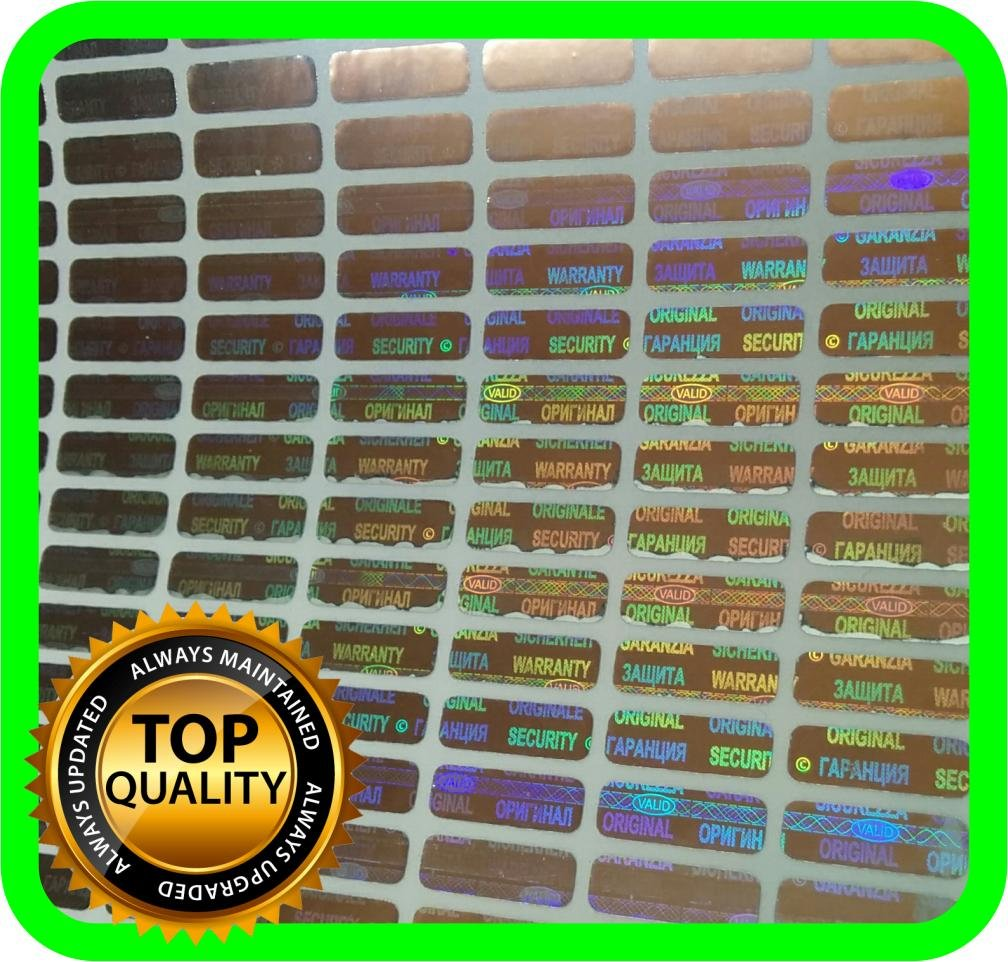 Holomarks 1050 pcs Small Security hologram labels, void warranty stickers tamper evident seals READ SIZE! 0.47 x 0.157 inch (very small!)