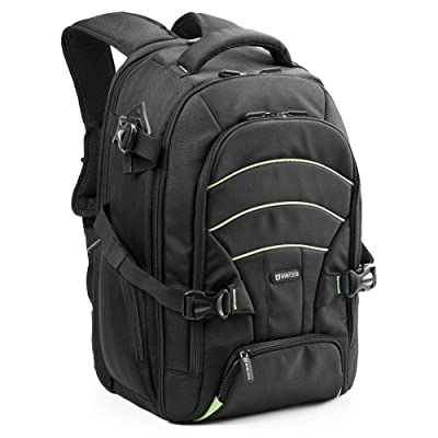 Laptop / DSLR Camera Backpack, Evecase Professional Large SLR Camera Travel Backpack