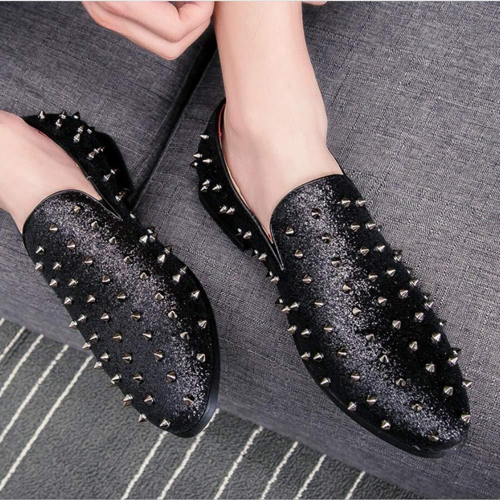 Nuevos zapatos con con con punta para hombre, zapatos con remaches, Europa y los Estados Unidos. Tienda de la noche del viento. Zapatos de la línea Trend, zapatos de marea Low Help con personalidad de barbero 5f1c7e