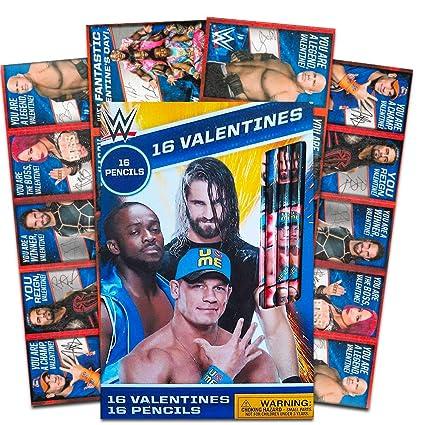 Amazoncom Wwe Wrestling Valentines Card Bundle 16 Cards With 16