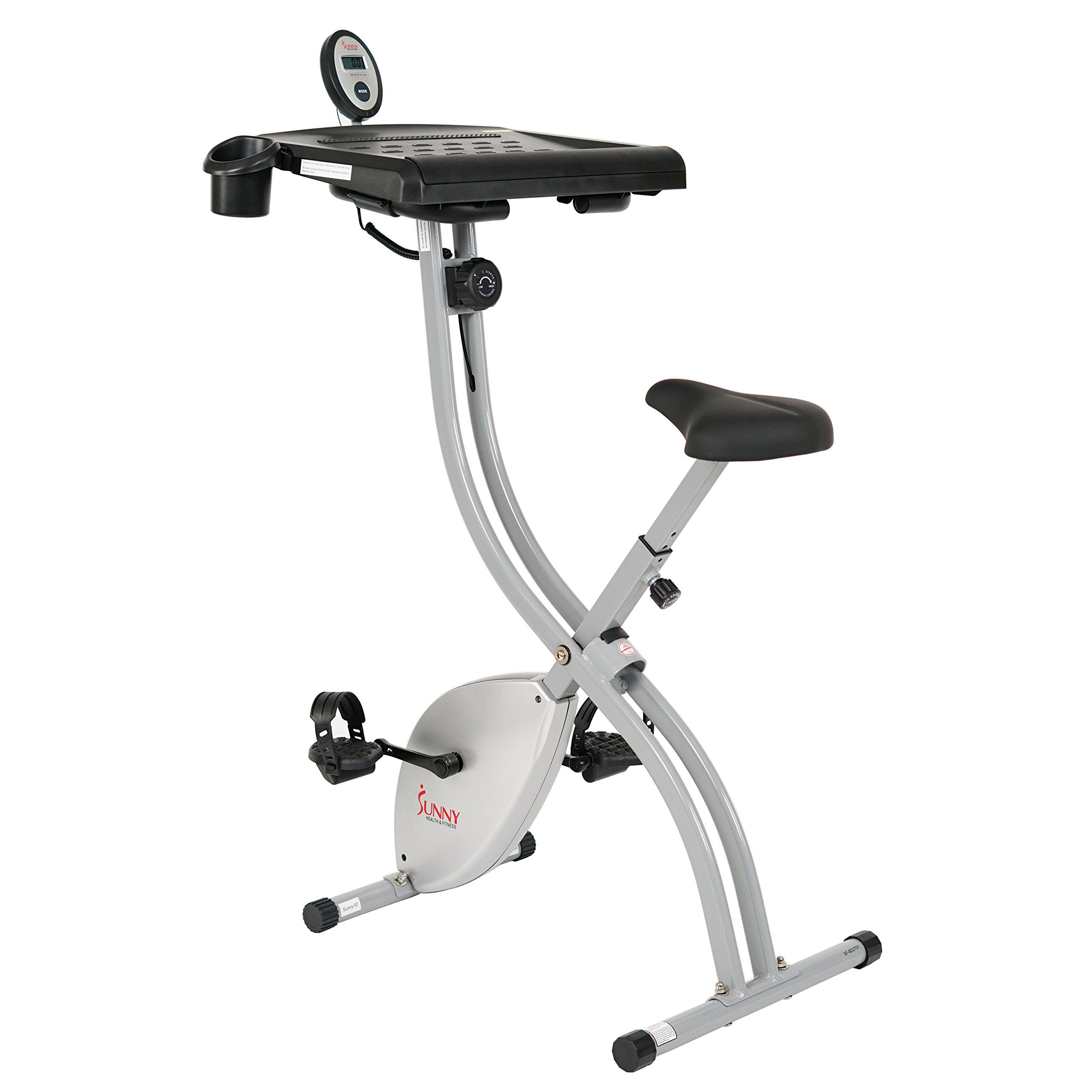 Sunny Health & Fitness SF-BD2701 Exercise Magnetic Resistance Belt Quiet & Large Work Surface Desk Bike