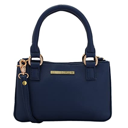 abe2cf6bf11 Buy Lapis O Lupo Zaffre Women s Small Handbag (Blue) Online at Low ...