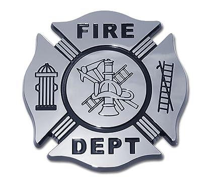Amazon Com Fire Department Firefighter Maltese Cross Premium Black
