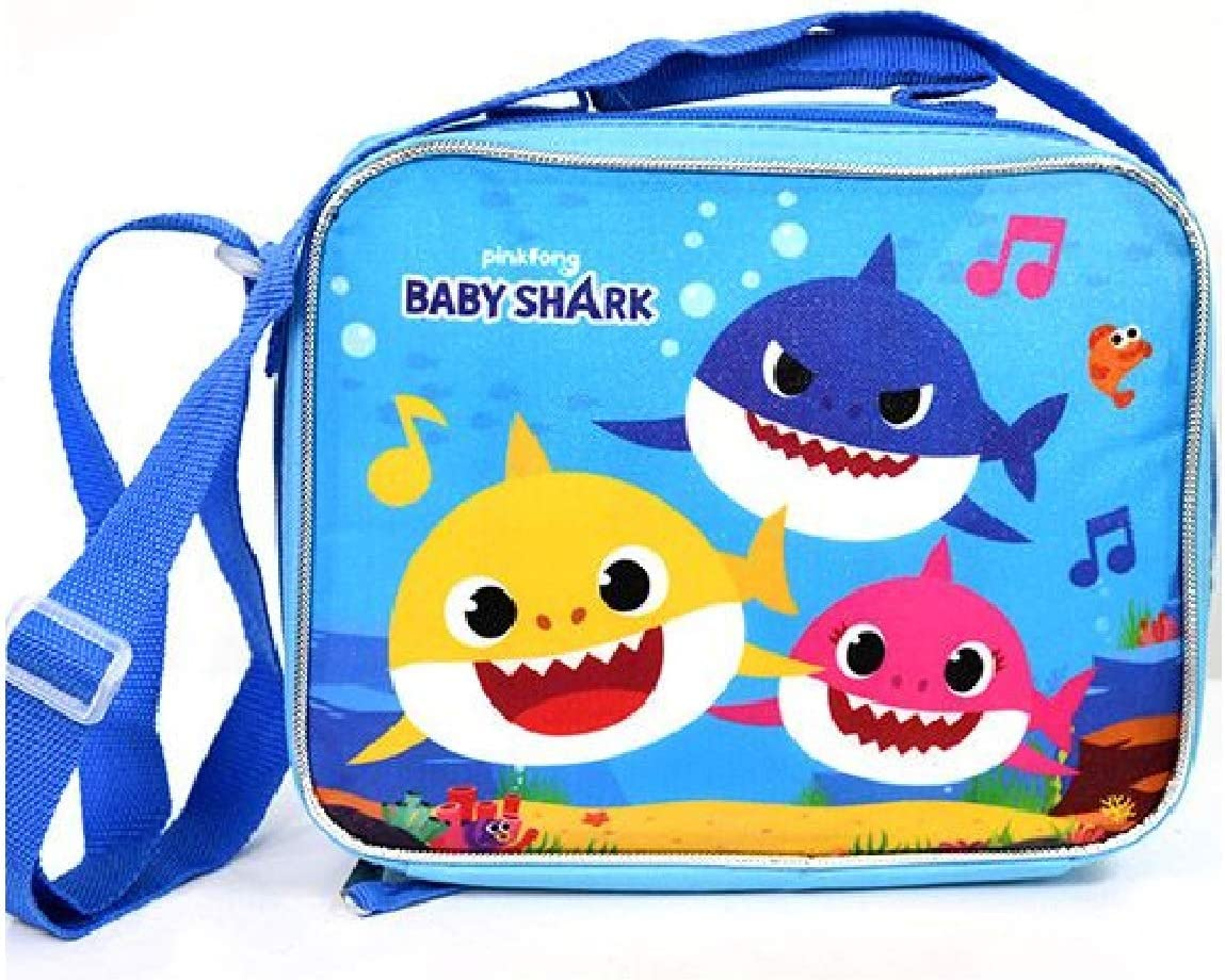 Baby Shark SHARKS 3 Bag with Strap Lunch Box, small, Blue