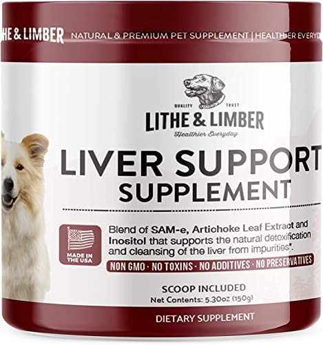 New Developed Formula Liver Support Supplement for Dogs – Specially Formulated Blend of Sam-E, Artichoke Leaf Extract Inositol Promotes Optimal Liver Bra
