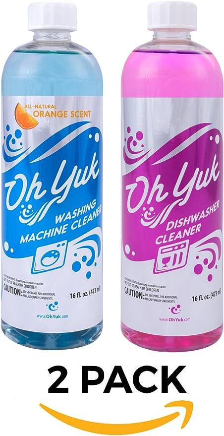 Oh Yuk limpiador de lavadora y lavavajillas limpiador Combo Pack ...