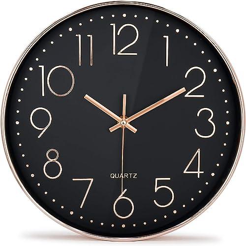 Moksha 12 Inch Modern Wall Clock Silent Non Ticking Easy to Read Decorative Wall Clock