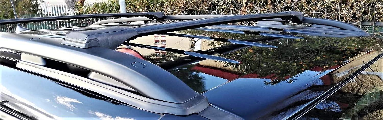 HippoBar Verrouillable /& A/érodynamique Barres De Toit Barres Transversales pour Audi A6 C7 Allroad Quattro 2012 Present Anodis/é Noir