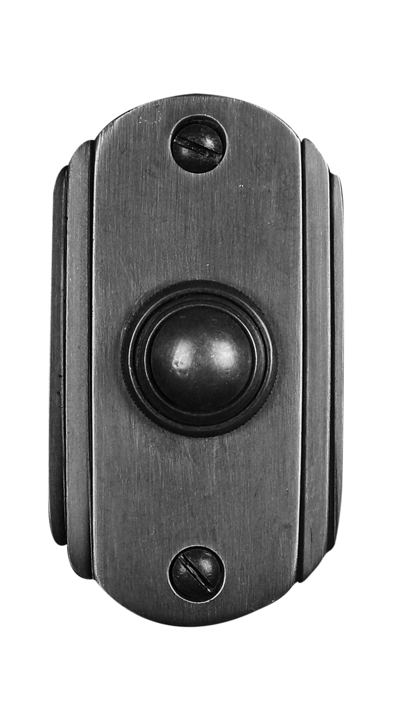 Wired Iron Doorbell Chime Push Button Vintage in Black Powder Coat Finish Vintage Decorative Door Bell with Easy Installation