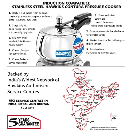 b02415bb3 Buy Hawkins Stainless Steel Contura Pressure Cooker