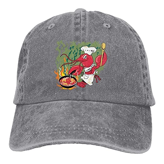 0a579a57bc5b0 Crawfish Chef Cooking Unisex Cool Adjustable Baseball Cap Dad Hat at Amazon  Men s Clothing store